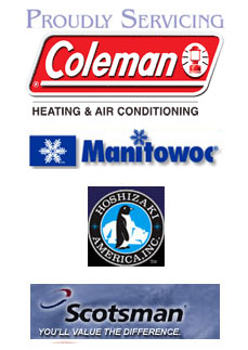 Authorized Dealer for Coleman, Manitowoc, Hoshizaki, Scotsman Logos
